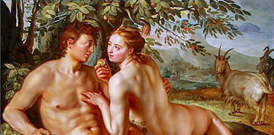 """Fall of Man"" by Hendrik Goltzius"