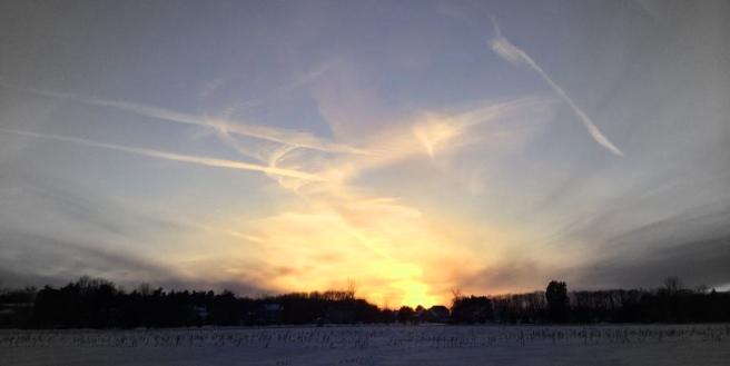 Sunrise in March. Photo by Jon Lubbers